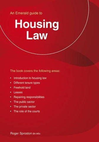 Housing Law (Emerald Guides)
