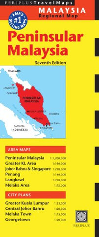 Peninsular Malaysia Travel Map (Periplus Travel Maps) (Periplus Travel Maps. Malaysia Regional Maps)