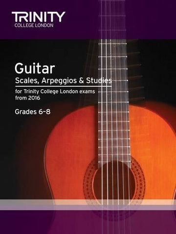 Guitar & Plectrum Guitar Scales & Exercises Grade 6-8 from 2016