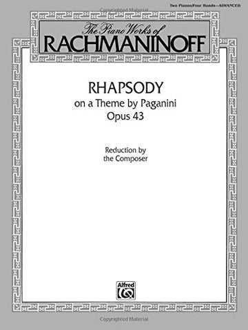 Rhapsody on a Theme by Paganini, Op. 43: The Piano works of Rachmaninoff, Belwin Edition