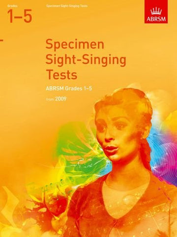 Specimen Sight-Singing Tests, Grades 1-5 (ABRSM Sight-reading)