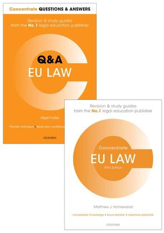 EU Law Revision Pack 2016: Law revision and study guide (Concentrate)