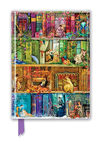 Aimee Stewart: A Stitch in Time Bookshelves (Foiled Journal) (Flame Tree Notebooks)