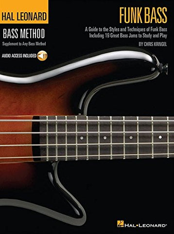 HAL LEONARD BASS METHOD FUNK BASS BGTR BK/CD