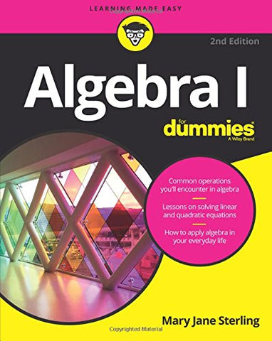 Algebra I For Dummies, 2nd Edition (For Dummies (Lifestyle))
