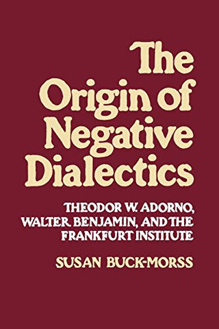 Origin of Negative Dialectics: Theodore W. Adorno, Walter Benjamin, and the Frankfurt Institute