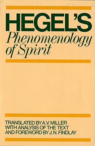 Phenomenology of Spirit (Galaxy Books)