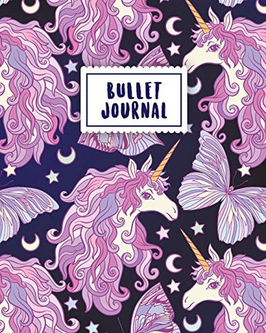 Bullet Journal: Magical Unicorn | 150 Dot Grid Pages (size 8x10 inches) | with Bullet Journal Sample Ideas