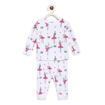ballerina night suit set for girls