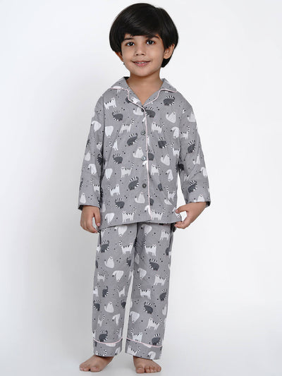 cotton night suit set boys