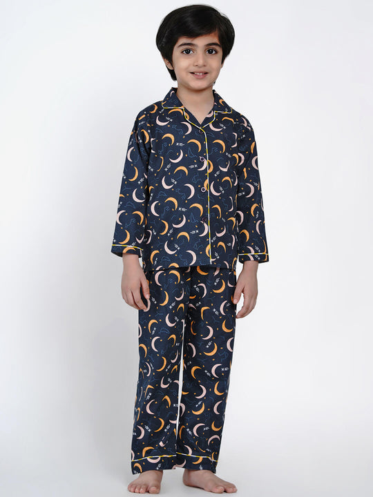 moon pattern night suit for boys