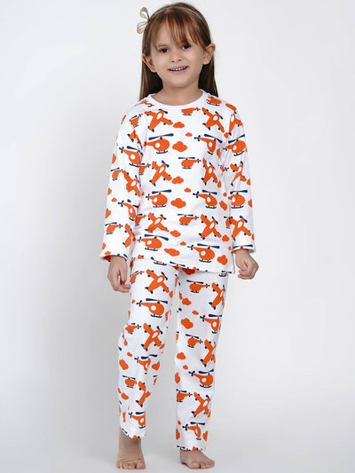 organic cotton aeroplane night suit