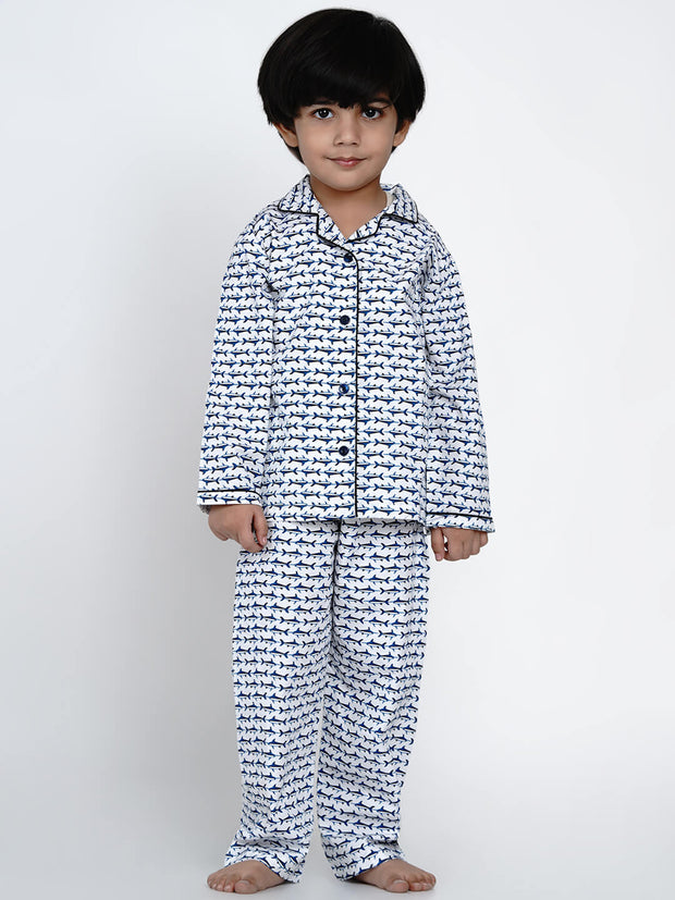 blue whale night suit