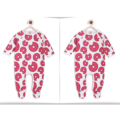 Berrytree Twins Baby Dress : Donuts Romper-Berrytree