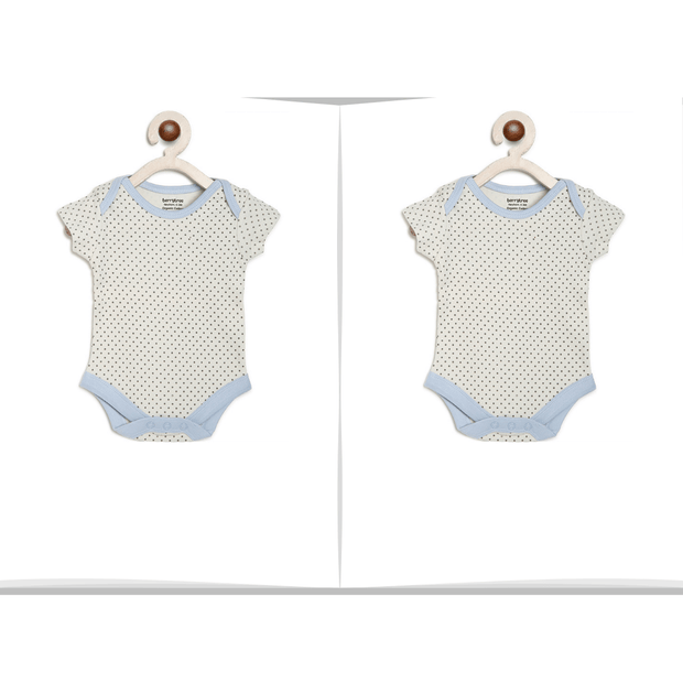 Grey Dot Onesie for Twins