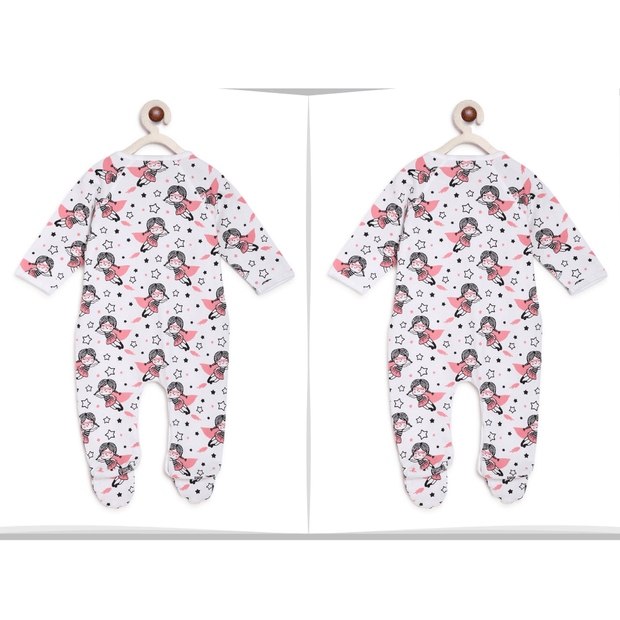 Super Girl Baby Romper Twins