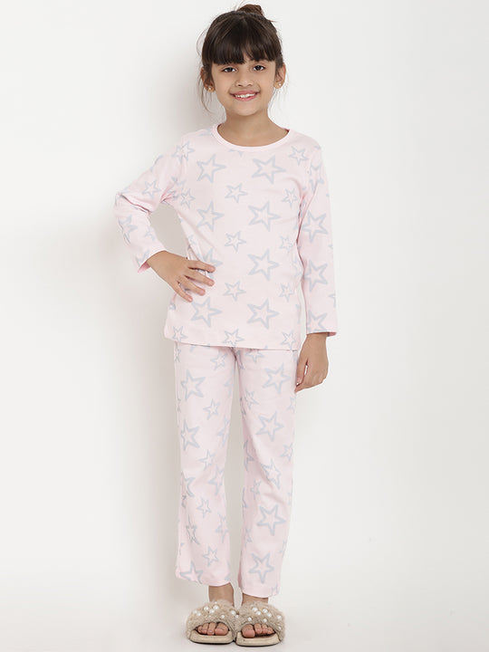 night suit organic cotton pink