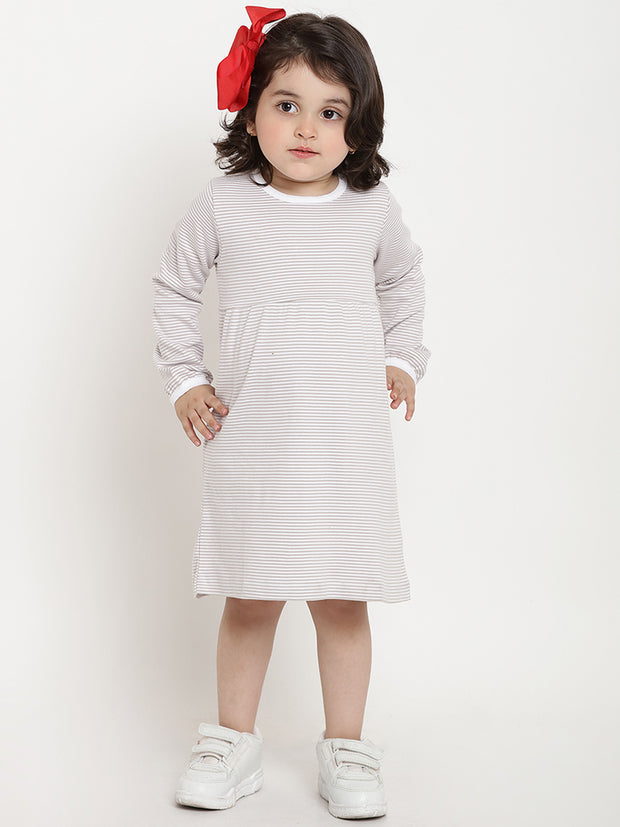 organic cotton grey dress berrytree kids