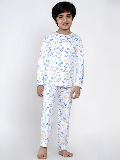 paper plane organic cotton night suit