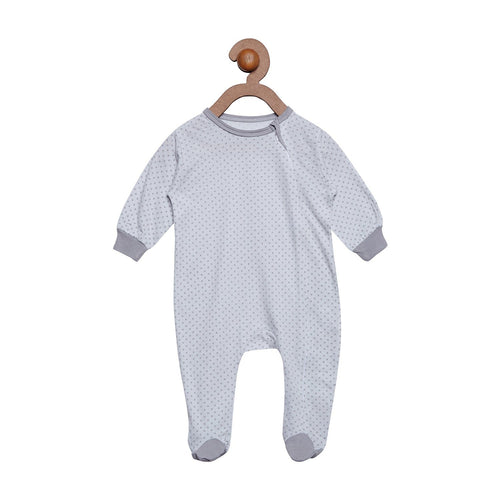 Berrytree Organic Cotton Baby Romper Grey stars