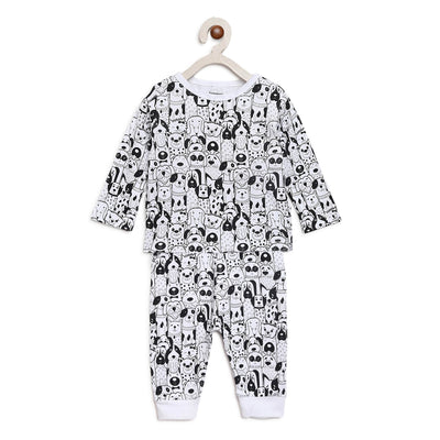 animal night suit set for baby