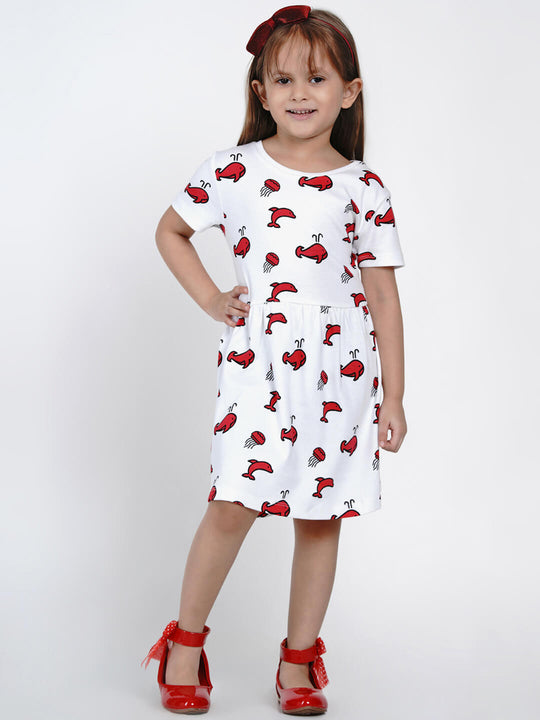 berrytree dress fish print