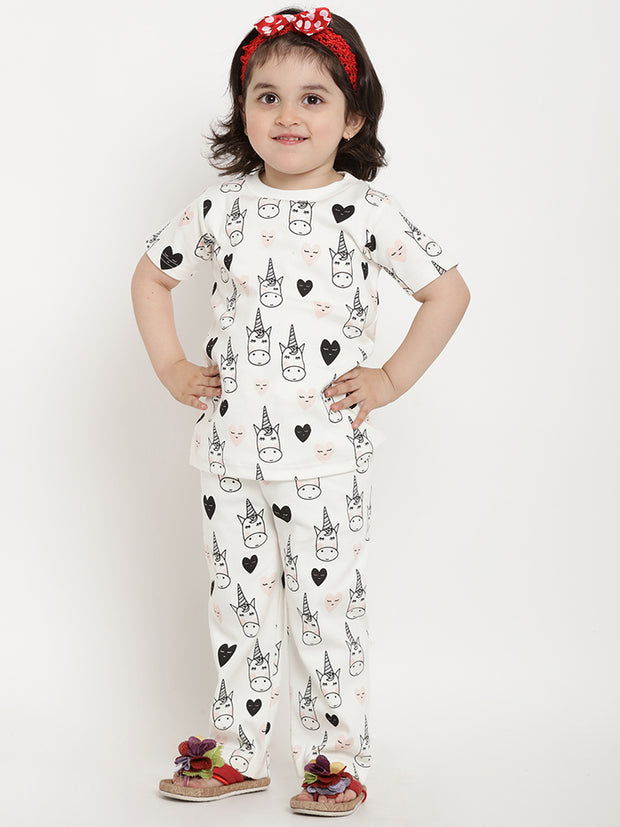 girls night suits white organic cotton berrytree