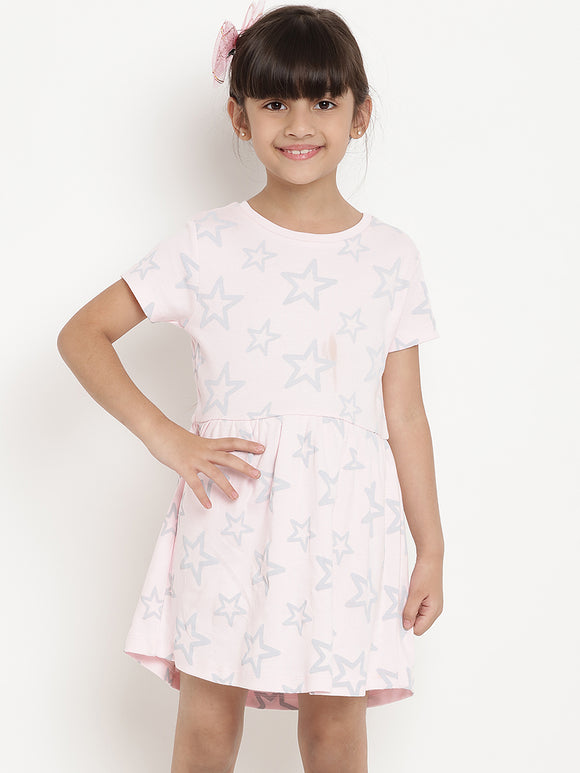 pink stars dress indian online