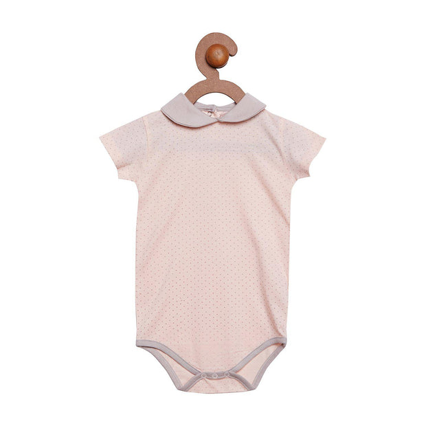 Berrytree Organic Cotton Baby Onesie Peter Pan Pink