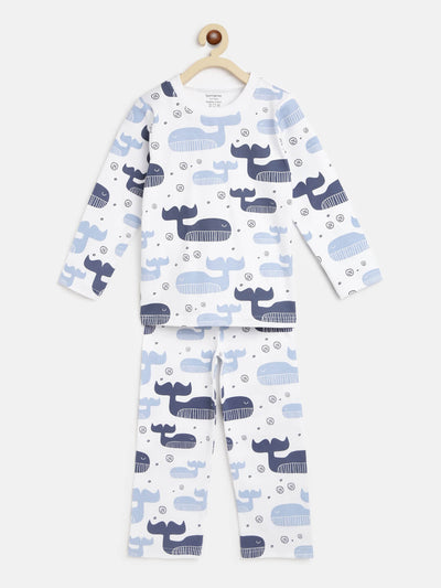 blue whales organic night suit