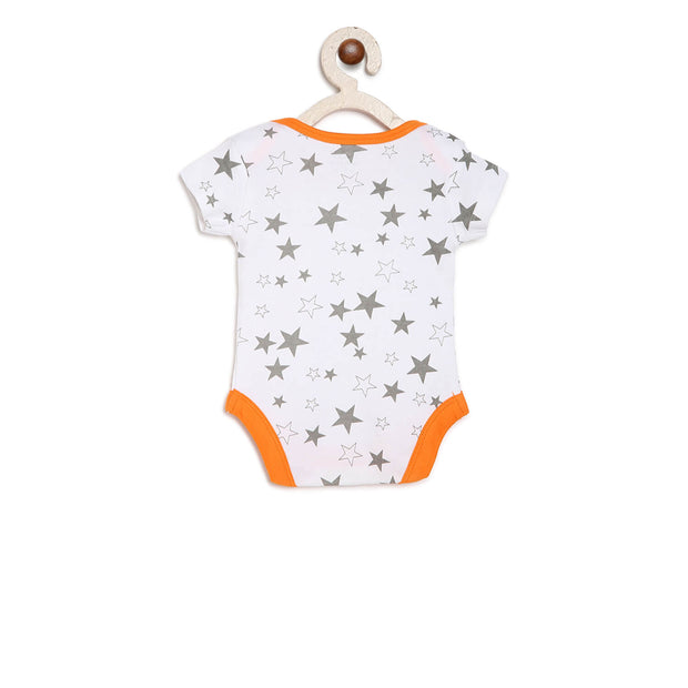 orange and grey onesie for babies