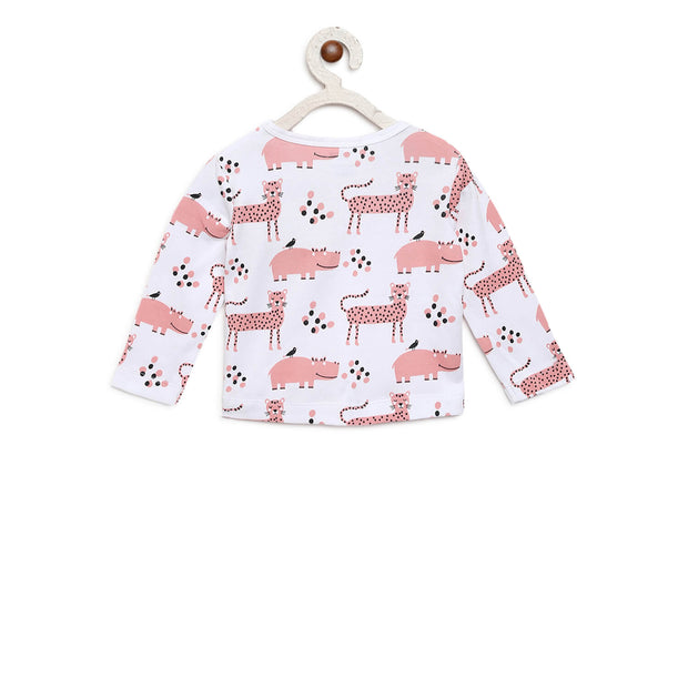 pink animals organic cotton