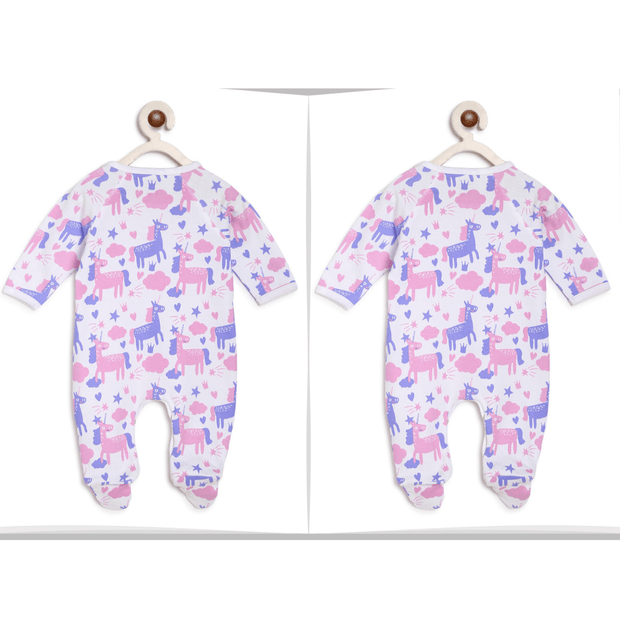 purple unicorn twins baby dresses