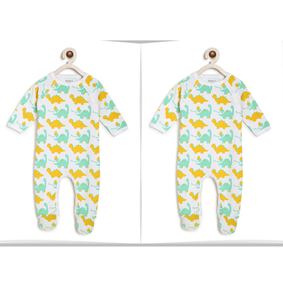 Green Dinos Twin romper