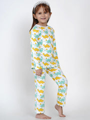 organic cotton dinosaur printed night suit