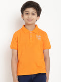 orange polo shirt organic cotton kids berrytree