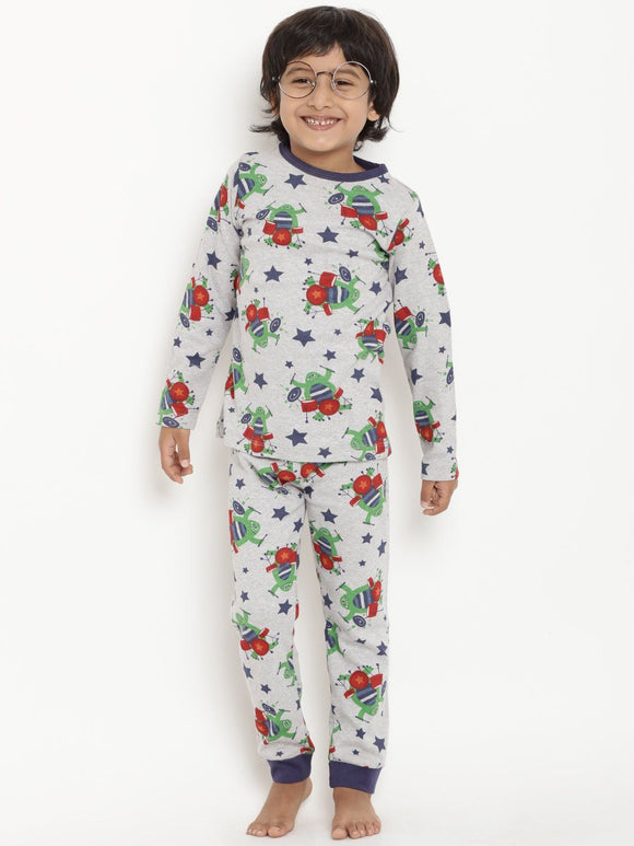 Berrytree Organic Unisex Night Suit- Rockband