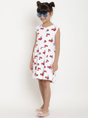 fish print gown dress organic cotton