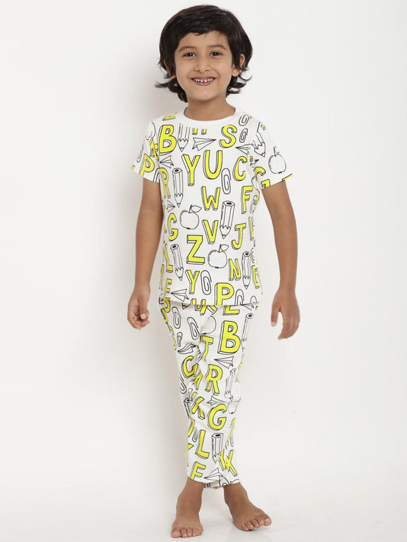 yellow night suit for boys india online