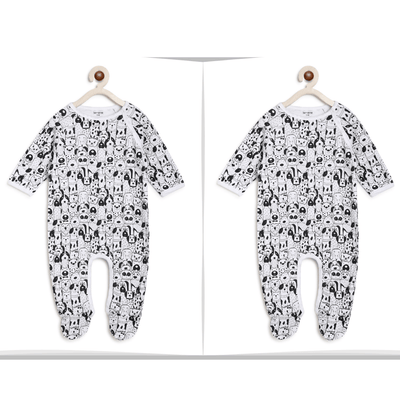 Twin Baby Boy Clothes : Black Animals Romper-Berrytree