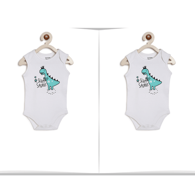 Dino Onesie for twins