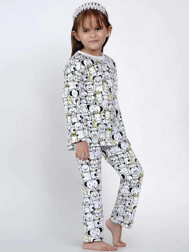 organic cotton night suit for girls