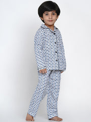 cotton whale pj set