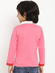 Berrytree Organic cotton Unisex Pink Polo T-Shirt