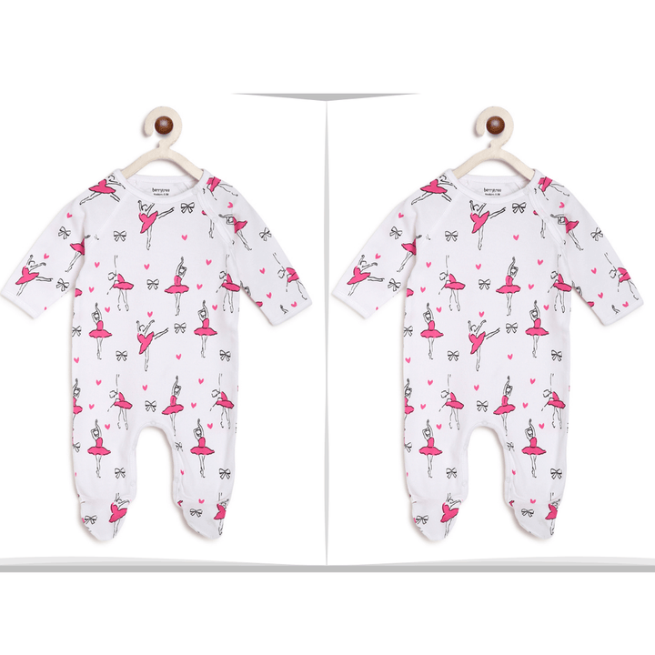 Twin Baby Clothes : Ballerina Romper-Berrytree