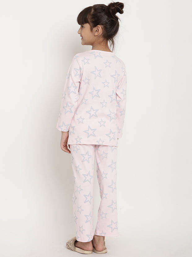 night suit organic cotton girl