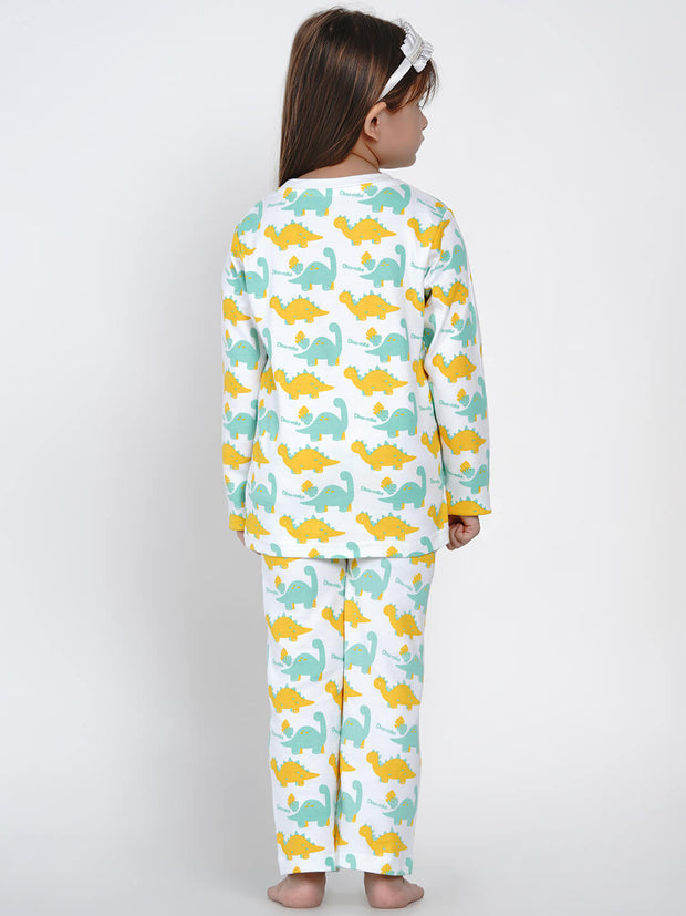printed night suit set organic