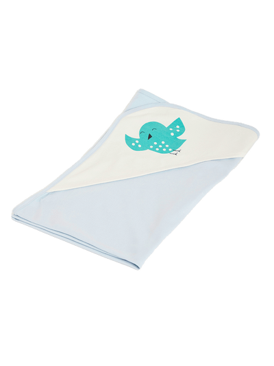 birds baby organic cotton blanket