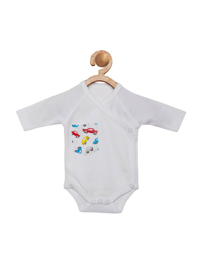 car print organic cotton onesie
