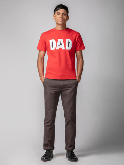 Dad tee red